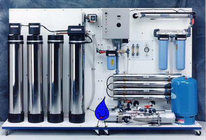 4,500-6,000 gpd Complete RO Water Filtration and Delivery Station