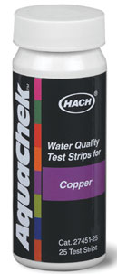 AquaChek Test Strips- Total Copper