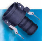Polypro, Heavy-Duty C Style Female Coupler x Hose - 1-1/4
