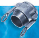 Stainless Steel B Style Female Coupler x MPT - 1/2