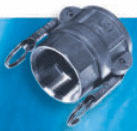 Stainless Steel D Style Female Coupler x FPT - 3
