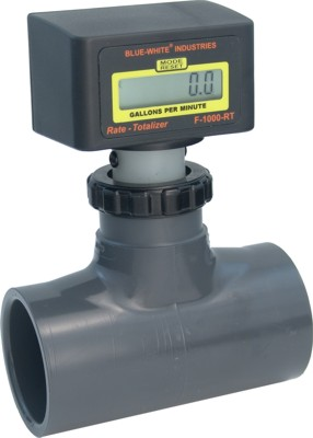 F-1000 Flowmeter w/ PVC Bodies (Rate Only) - 15-150 GPM - 1-1/2