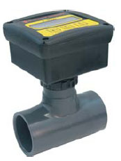 F-2000 Flowmeter PVC Body (Rate & Total) - 6-60 GPM - 1