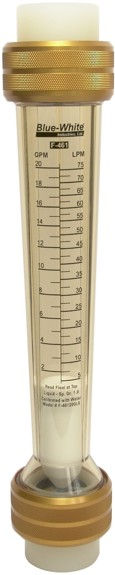 Blue-White F-461 Series Rotameter Rib-Guided Floats