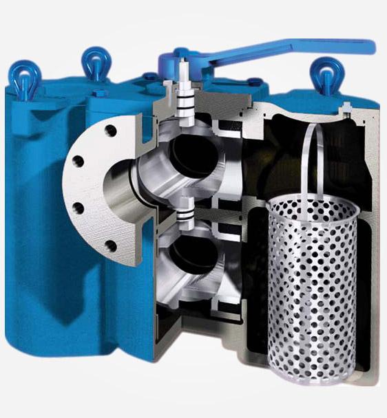 carbon steel model 53btx duplex basket strainer - Basket Strainer