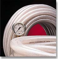 Finger Lakes70N Braid-Reinforced PVC Tubing - 1/4 ID - 7/16 OD (250')