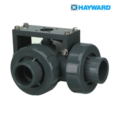 Hayward CPVC/EPDM 3-way Socket Lateral Ball Valve Mount up to 2