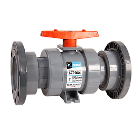 Hayward CPVC/EPDM Union Flanged Ball Valve for Actuator Mount 6