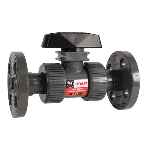 Hayward Union Flanged Ball Valve for Actuator Mount PVC/EPDM 6