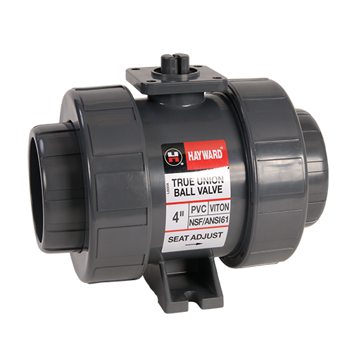 Hayward Union Ball Valve for Actuator Mount PVC/EPDM 2-1/2