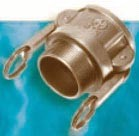 Brass B Style Female Coupler x MPT - 3""