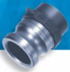Stainless Steel F Style Male Adapter x MPT - 1/2""