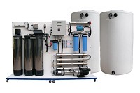 3,000-4,000 gpd Complete RO Water Filtration and Delivery Station