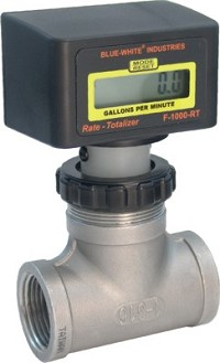 "F-1000 Flowmeter w/ SS Bodies (Rate & Total) - 30-300 GPM - 2"" Pipe"