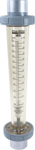 "F-451 Rotameter In-Line - 3.0-30 GPM - 1-1/2"" Adapter"