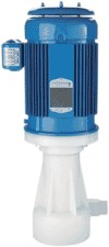 Filter Pump Industries P Series 74 GPM Vertical Centrifugal CPVC Pump with 1HP 3 Phase Motor