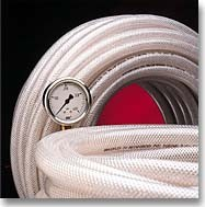 Finger Lakes70N Braid-Reinforced PVC Tubing - 3/8 ID - 9/16 OD (100')