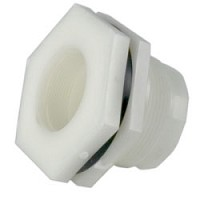 "Hayward 1-1/4"" Polypro-FPT/FPT-FPM O-Ring-Bulkhead Fitting"