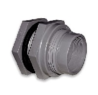 "Hayward 1"" PVC-Socket/FPT-EPDM-Bulkhead Fitting"