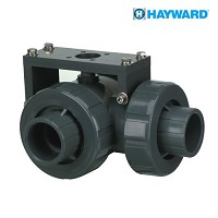 Hayward CPVC/EPDM 3-way Socket Lateral Ball Valve Mount up to 2""