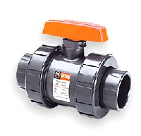 Hayward True Union Ball Valves PVC S/T 1""