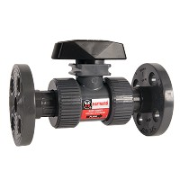 "Hayward Flanged Ball Valve for Actuator Mount PVC/EPDM 2-1/2"" to 4"""