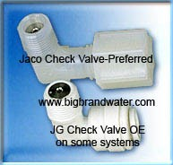 Jaco Check Valve for Membrane Housing Product Water