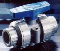 "Plastomatic Ball Valve - PVC Body - 3/4"" - FKM Seals"