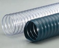 "R-2 Blue-Grey PVC Med. Wt. Wire Reinforced Exhaust Hose - 7"" (25')"
