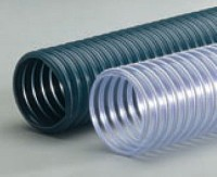 "R-3 Blue-Grey PVC Hvy. Wt. Wire Reinforced Exhaust Hose - 5"" (25')"