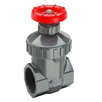 "Spears SCH 80 Viton 1-1/4"" Threaded Gate Valve"