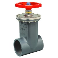 "Spears SCH 80 Viton 3"" Reinforced Threaded Gate Valve"