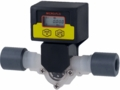 Blue-White Micro-Flo Paddlewheel Flowmeter w/ Flow Rate and Totalizing