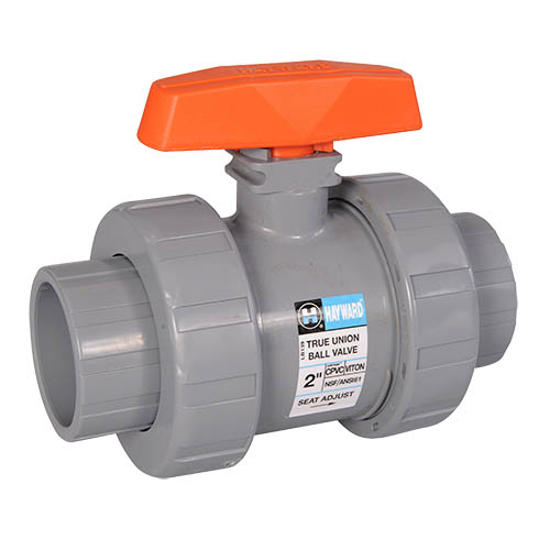 Hayward True Union Ball Valves CPVC w/Viton O-Rings