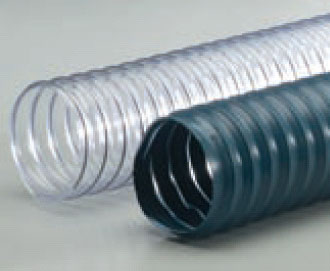 R-2 Blue-Grey PVC Med Wt Wire Reinforced Exhaust Hose - 2-1/2