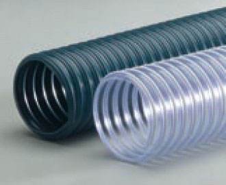 R-3 Blue-Grey PVC Hvy Wt Wire Reinforced Exhaust Hose - 1-1/2