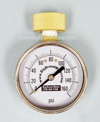 "2 1/2"" Hose Bib Quick Home Water Pressure Test Gauge 0-160 PSI"