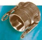 Brass D Style Female Coupler x FPT - 3/4""