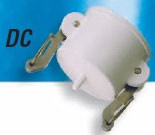 Food-Grade Filled Polypro DC Style Female Coupler Cap - 1""