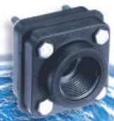 Full Port Polypro Bolted Tank Fitting - 1-1/4""
