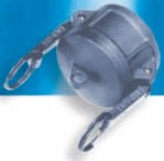 Stainless Steel DC Style Female Coupler Cap - 2""