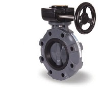 "Hayward Gear Operated Butterfly Valve 8"" PVC"