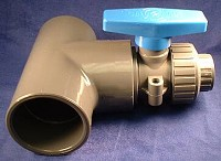 "Plastomatic LMBV Ball Valve - PVC/FKM - 3/4"" Valve - 1-1/4"" Adapter"